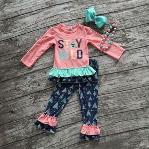 Other - Stay Wild | Girls | Childrens Boutique Outfit | 5T